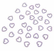 200 lilas perle en forme de cœur double face 11mm Décoration de table scatter perles
