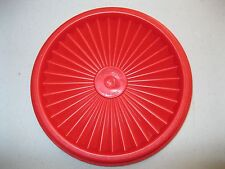 "TUPPERWARE ~ REPLACEMENT LID / SEAL ~ 5"" SERVALIER INSTANT SEAL #812 BRIGHT RED"