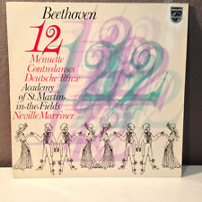 "BEETHOVEN 12 Menuette Contradanses - Neville Marriner - 12"" Vinyl Record LP - EX"