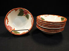 """Set of (8) Franciscan Apple England 5 7/8"""" Cereal Bowls  Excellent Condition"""