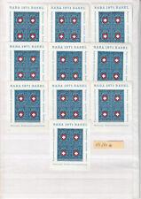 SUISSE , HELVETIA ,SWISS, NABA 1971 Basel 10 feuillets neufs