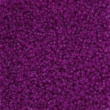 Miyuki Size 15/0 Seed Beads Dyed Semi Frosted Trans Lavender 8.2g (N13/2)