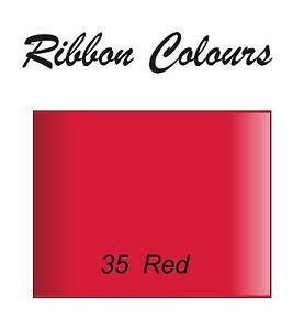 Personalised Red 25mm Ribbon Birthday Christmas Wedding Anniversary Stag Hen ,