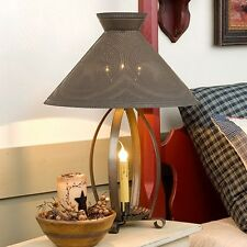 Irvins Country Tinware Betsy Ross Table Lamp in Blackened Tin w/ Stars