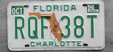 1996 FLORIDA LICENSE PLATE  # RQF 38T