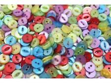 Mischung 100 bunte Kinderknöpfe Mini 11mm #9560