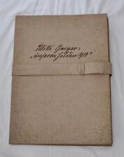 Willi Geiger- Unsere Helden 1914 - Vorzugsausgabe - 10 num./sign. Lithographien