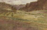 Orlando Greenwood RBA (1892-1989) - 1917 Watercolour, View of Rosay
