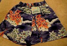 Tommy Bahama FAB S drawstring MARINA  Hawaiian NEW NWT BLUE womens shorts beach