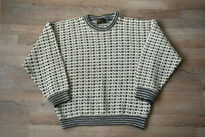 Devold Norway Wool Fisherman Vintage Sweater Jumper Men's M