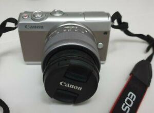 CANON EOS M100 Fotocamera mirrorless con obiettivo EF-M15-45 IS STM Bianco