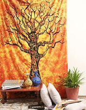 TREE PRINT Cotton Sheet Throw Hippie Bohemian Cover Wall Hanging twin Boho 55*85
