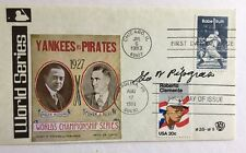George Pipgras Signed 1983, 1984 DOUBLE Postmarked FDC Cachet SGC