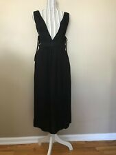 4SIZNNAI Womens Black sleeveless V neck jumper Dress size Small  NWT