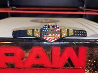 ELITE WWE UNITED STATES CHAMPIONSHIP BELT for WRESTLING FIGURE MATTEL US WCW WWF