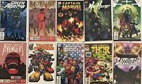 10 Comics Captain Marvel Justice League Green Arrow 52 Thor Morbius and more