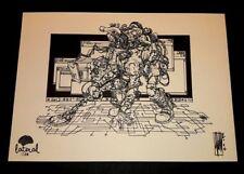 Alessandro Vitti stampa 42x30 firmata Red Dread 3° soggetto Lateral Studio