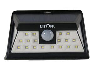 LITOM 24 LED Solar Lights Outdoor, 3 Optional Modes Wireless Motion Sensor Light