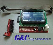 3D Printer Reprap RAMPS1.4 12864 LCD display controller+adapter Mendel Prusa M4