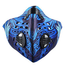 RockBros Bicycle Anti-dust Blue Half Face Mask with Filter Neoprene Eagle Style