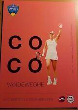 Coco Vandeweghe - 2017 Western & Southern Atp Tennis 5 x 7 Player Card