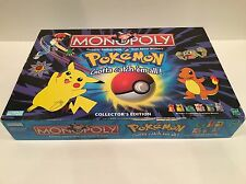 Pokemon Monopoly 1999 Collectors Edition Board Game Pikachu 100% Complete