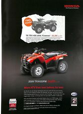 Original Vintage 'Honda TRX420' Quad Advert from Gamewise Magazine spring  2009