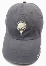 LIFE IS GOOD : GOLF gray adjustable cap / hat - 100% cotton