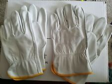 Mcr Safety 3401Xxl Leather Palm Gloves,Pigskin Palm,2Xl, 2 pair New