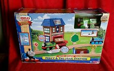Fisher-Price Thomas Train Wooden Railway Set Percy & The Mail Station Set NIB