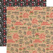 "Echo Park - My Favorite Christmas - SEASON'S GREETINGS - 12x12"" d/sided paper"