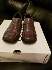 Aldo Shoes Boots Leather Brown Size 7 NEW