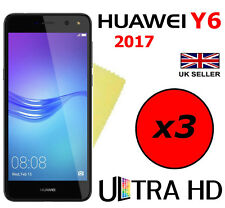 3x ULTRA HD CRYSTAL CLEAR SCREEN PROTECTOR COVER FILM GUARD FOR HUAWEI Y6 2017