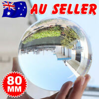 80mm Crystal Ball Photography Lens Ball Photo Prop Healing Sphere Decoration AU