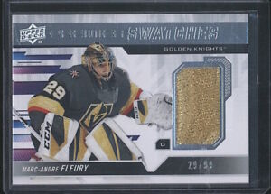 2019-20 UD Premier Swatches MARC-ANDRE FLEURY Jersey Patch 29/99 Golden Knights