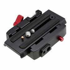 DSLR Camera Sliding Quick Release Clamp Plate Adapter for Manfrotto Tripod 577