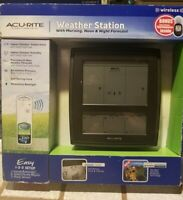 Acurite Weather Station Morning Noon Night Forecast + Window Thermometer NEW