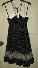 Black and white stripped, flair, summer dress