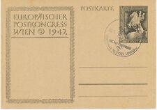 """DT.REICH 1942 Europäischer Postkongress Wien 1942 6+4 Pf Sonder-GA SST """"BERLIN"""""""