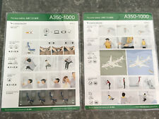 Cathay Pacific Airways Airbus A350-1000 Safety Card RARE