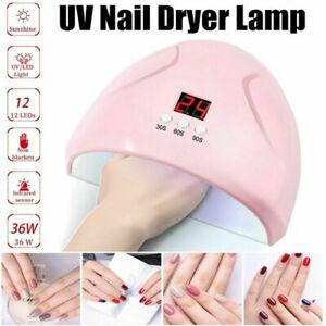 54W LED UV Nail Polish Dryer Lamp Gel Acrylic Curing Light Professional Spa Tool