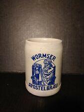 *Genuine Vintage* Wormser Apostelbrau German Beer Mug