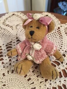 """Bearington Bear Collection Knitted Pink Sweater 5"""""""