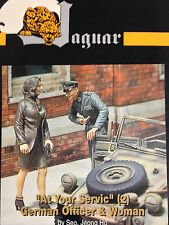 """Jaguar Models - 1/35 """"At Your Service"""" (2) German Officer & Woman (JAG-63114)"""