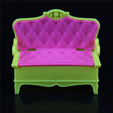 Mini Dollhouse Furniture Pink Sofa Couch Barbie Doll Giocattoli per bambiniPB