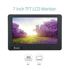 "EYOYO 1024*600 7"" Inch Video LCD Monitor Display BNC AV Audio Input For Car TV"