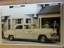 "12 By 18"" Black & White Picture of 1952 Dodge Coronet 4 door sedan"