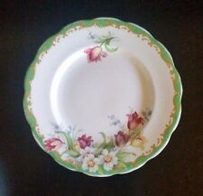 Vintage Bell Fine Bone China England Narcissus Green Saucer 1920's / 30's