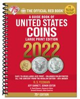 New 2022 Official Red Book Guide US Coin Price List Guide Large Print Catalog