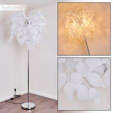 Lampadaire Retro Lampe sur pied Lampe de séjour Lampe de corridor Tissu blanc